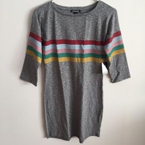 🌈 NWT Express Rainbow Graphic Tee Dress